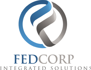 New blue and silver FEDCorp logo - Bank Security Solutions